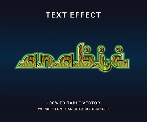 Арабский полный редактируемый текстовый эффект