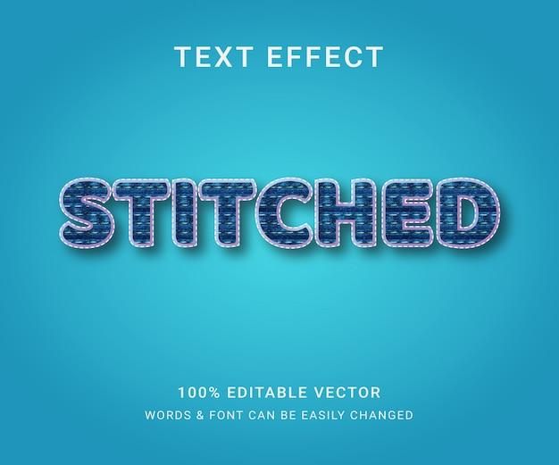 Сшитый полный редактируемый текстовый эффект