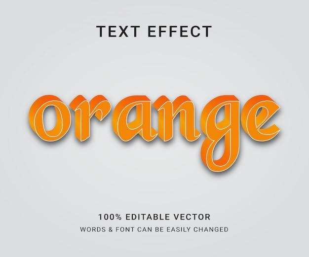 Оранжевый редактируемый текстовый эффект