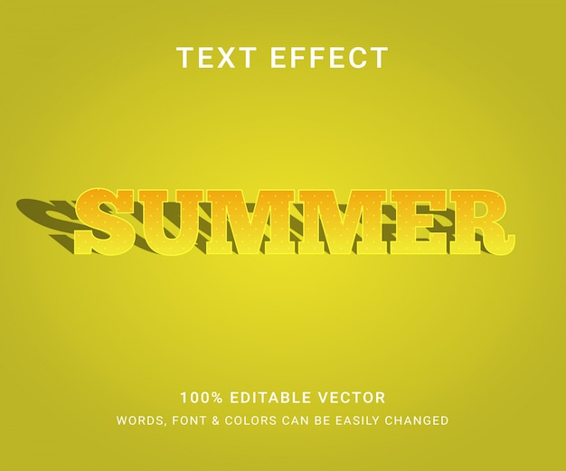 夏の完全な編集可能なテキスト効果