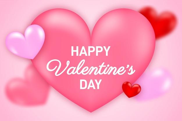 День святого валентина . романтическая композиция с сердечками