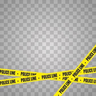 黒と黄色のストライプ。バリケードテープ、横断しない、警察、犯罪危険ライン。