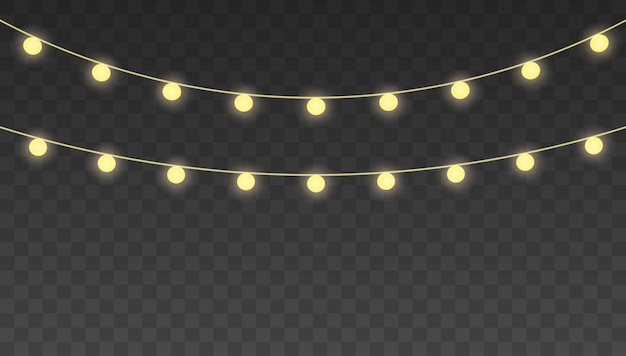 Рождественские огни. набор гирлянд, праздничные украшения