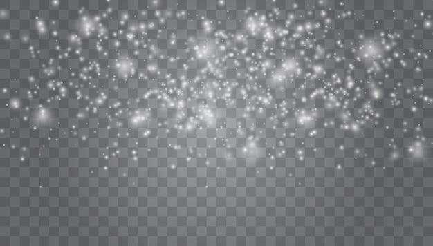 Волшебная текстура белого снегопада. зимняя метель.