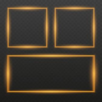 Рамка с световыми эффектами. светящиеся неоновые огненные волны. блеск блеск эффект тропа.
