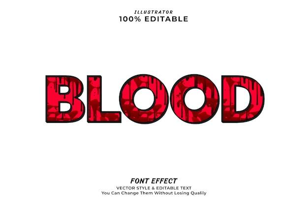 血の編集可能なテキスト効果、