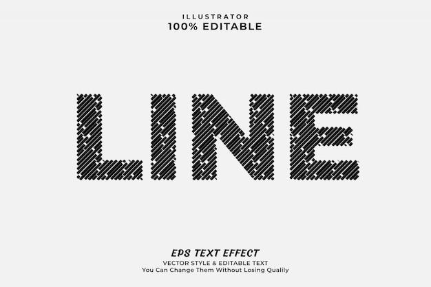 Текстовый эффект линии, редактируемый шрифт