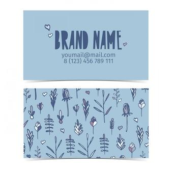 Дизайн шаблона визитки для фирменного стиля с цветами