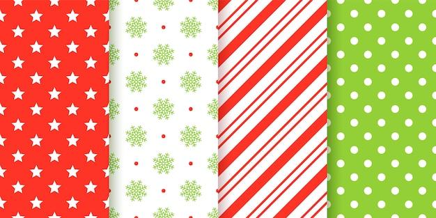 Рождество бесшовные модели. рождество, новый год геометрические текстуры.