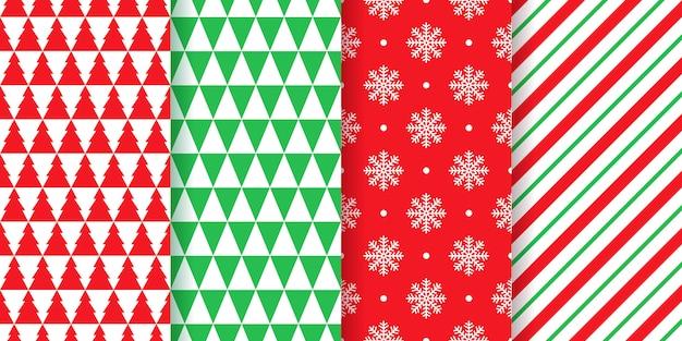 クリスマスのシームレスなパターン。クリスマス、新年の幾何学的なテクスチャー。