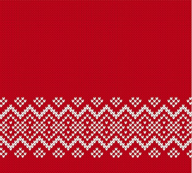 クリスマスニットテキストの空の場所で幾何学的な飾り。