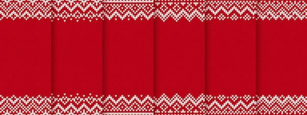 ニットクリスマスのシームレスなパターン。