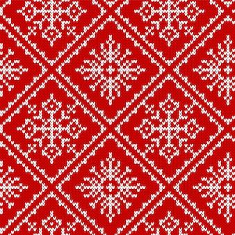 Вяжем рождественский узор. рождество бесшовных текстур.