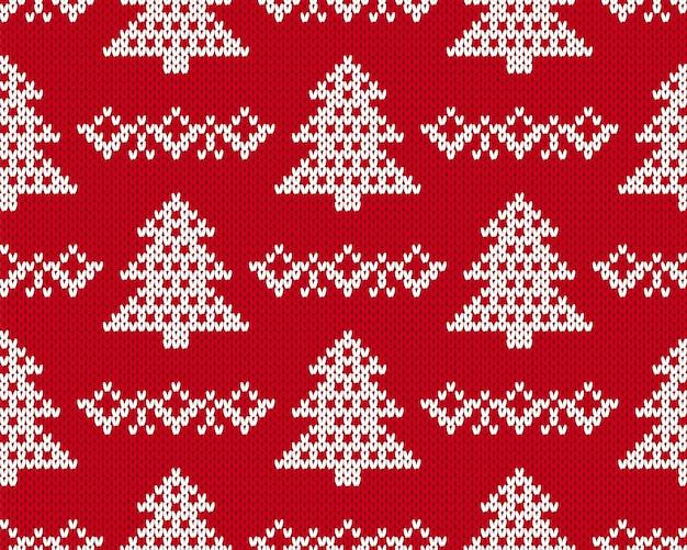 Вяжем рождественский узор.