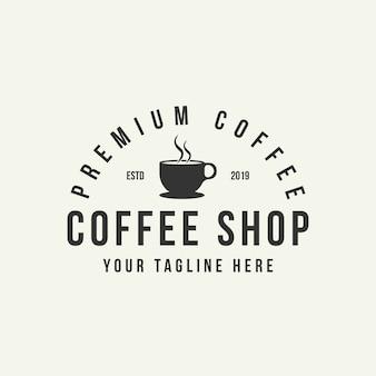 Шаблон оформления логотипа кафе.