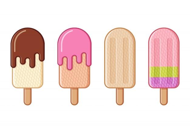 Мороженое, мороженое и мороженое с фруктами,