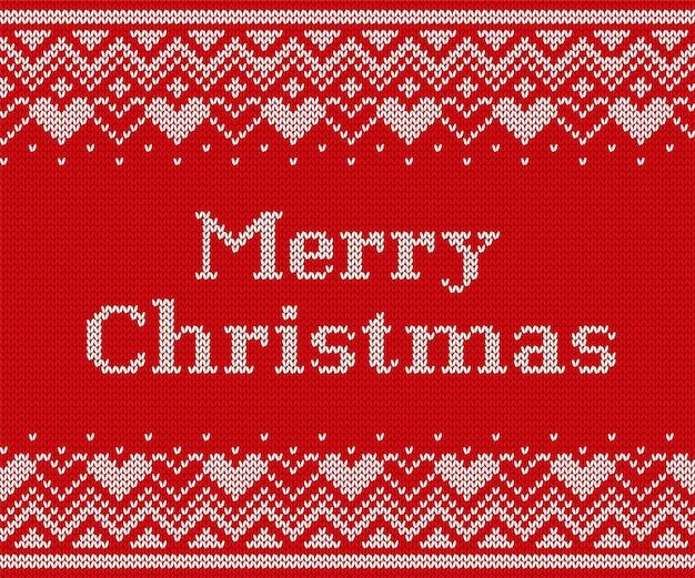 ニットクリスマスパターン、ニットのシームレスなテクスチャ、