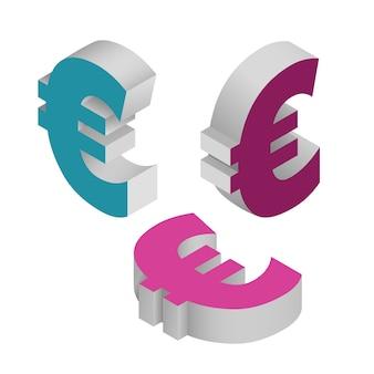 Набор символов валюты евро