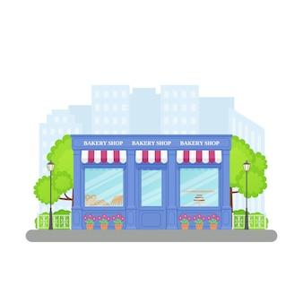 Магазин хлебобулочных изделий, витрина магазина,