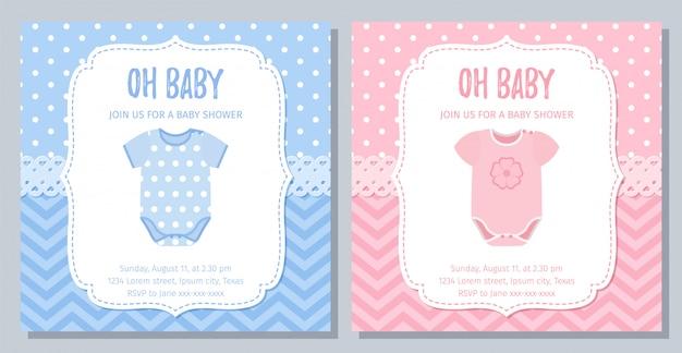 ベビーシャワーカードのデザイン。図。誕生日テンプレート招待。