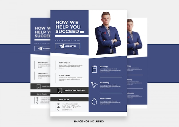 Векторная презентация современный креативный дизайн красочный бизнес корпоративный флаер
