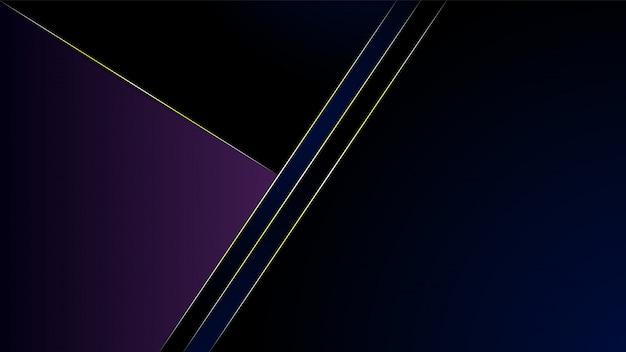 青と紫のグラデーションの背景に抽象的なモダンな多角形ライン金