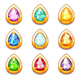 Красочные золотые амулеты с бриллиантами