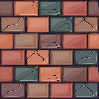 Мультяшный цветной каменной стены текстуры