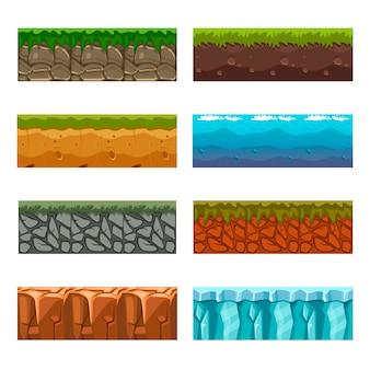 ゲーム用に設定されたシームレスな境界線の床と空