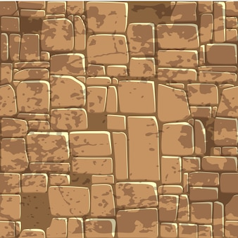 Безшовная стена текстуры коричневого цвета предпосылки каменная.
