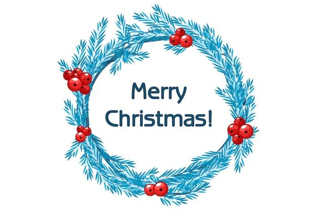 Традиция синего венка ели с рождеством