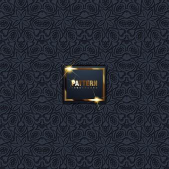 アラビア語の装飾品で東洋パターン黒背景