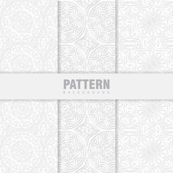 オリエンタルホワイトパターンのセットをバンドルします。