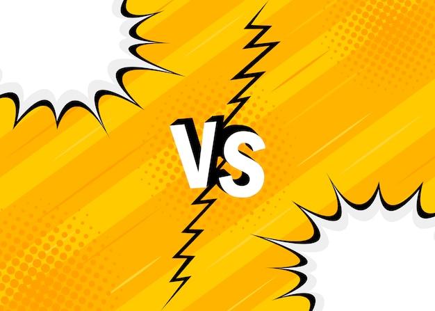 ハーフトーンと黄色のレトロな背景コミックスタイルのデザイン。