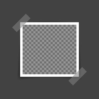 ベクトルフォトフレームモックアップデザイン。