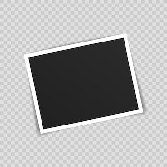 フォトフレームモックアップデザイン。透明な背景に分離された粘着テープのフォトフレーム。