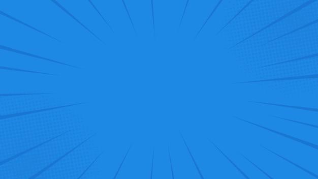 ハーフトーンとコミック光線の背景。夏の背景。レトロなポップアートスタイルで