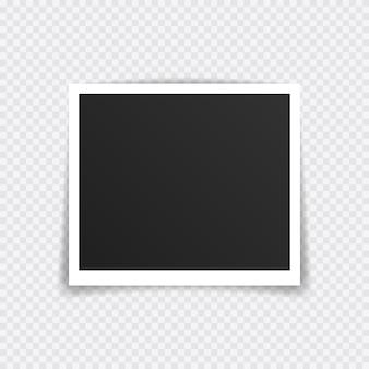 フォトフレームモックアップデザイン。透明な背景に分離された粘着テープのスーパーセットフォトフレーム。
