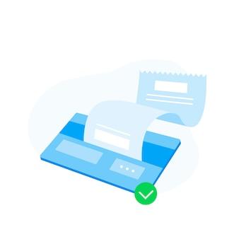 Дисконтная карта с чеком, оплата кредитной картой завершена.