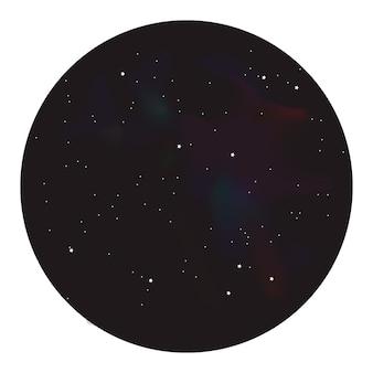 円の中の星の夜