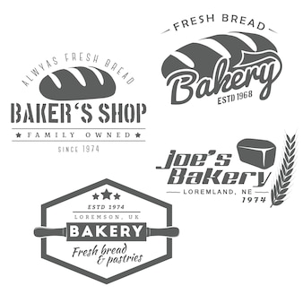 Набор хлебобулочных логотипа