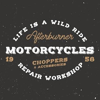 Ретро мотоцикл в винтажном стиле.