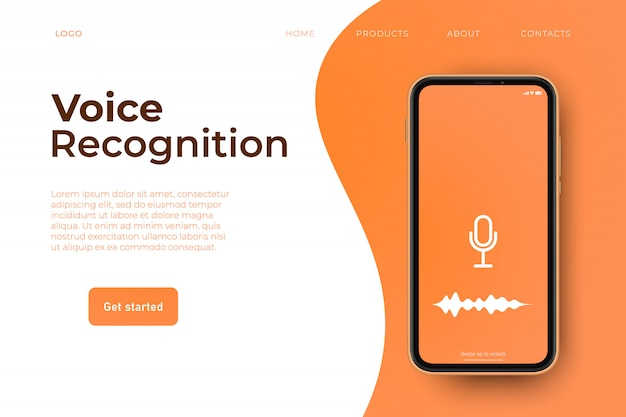 Веб-страница распознавания голоса