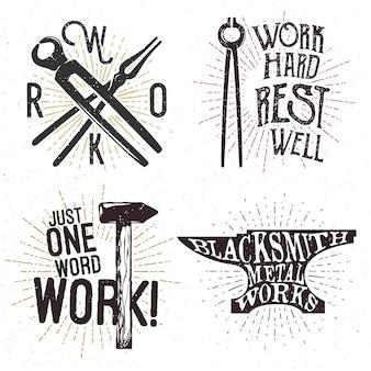 Набор мотивационных и вдохновляющих значков, ярлыков, логотипов.
