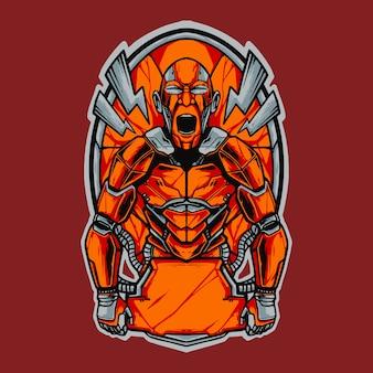 Иллюстрация логотипа истребителя