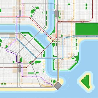 地下鉄や地下鉄の地図デザインテンプレート。都市交通スキームのコンセプトです。