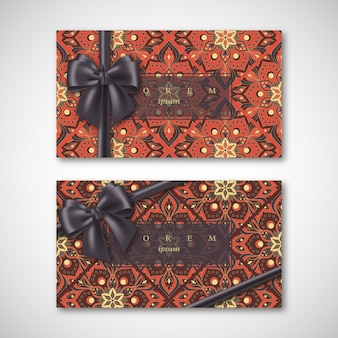 オリエンタルスタイルのカードのセット