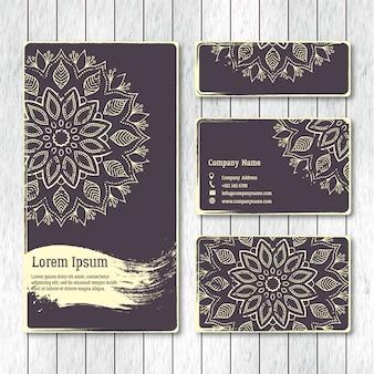 Набор шаблонов бизнес, визитки, открытки