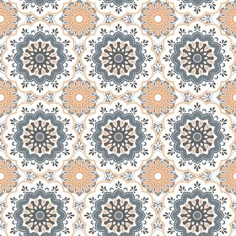 Бесшовные рисованной мандалы. старинные декоративные элементы