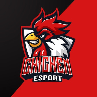 Куриный талисман киберспорт логотип